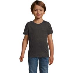 Textil Chlapecké Trička s krátkým rukávem Sols REGENT FIT CAMISETA MANGA CORTA Gris