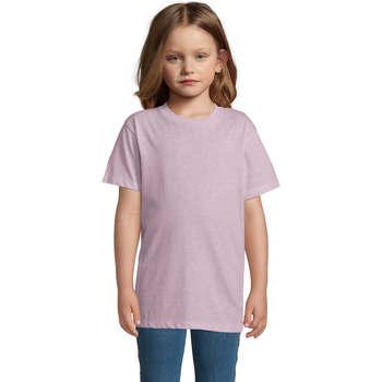 Textil Děti Trička s krátkým rukávem Sols REGENT FIT CAMISETA MANGA CORTA Rosa