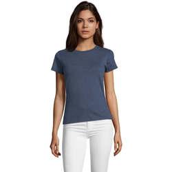 Textil Ženy Trička s krátkým rukávem Sols REGENT FIT CAMISETA MANGA CORTA Azul