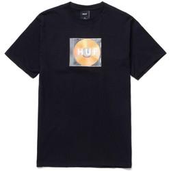 Textil Muži Trička s krátkým rukávem Huf T-shirt mix box logo ss Černá