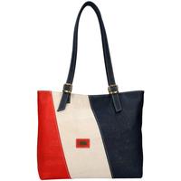 Taška Ženy Kabelky  Mr Cortica Korková dámská kabelka přes rameno červeno-béžovo-modrá modrá