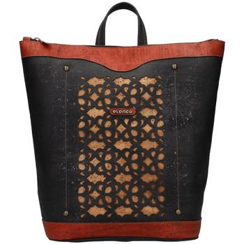 Taška Ženy Kabelky  Elenco Prestižní korkový dámský batoh přírodní EL4070
