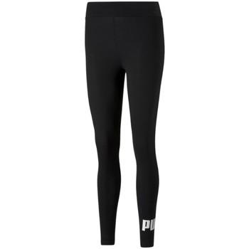 Textil Ženy Legíny Puma W ESS Logo Leggings Černá