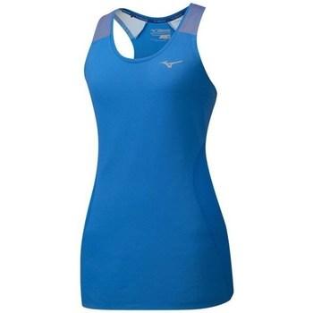 Textil Ženy Tílka / Trička bez rukávů  Mizuno Aero Tank Modré