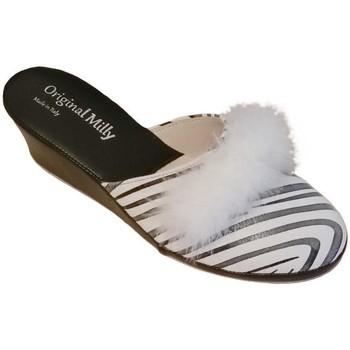 Boty Ženy Pantofle Milly MILLY300zebra bianco