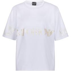 Textil Ženy Trička s krátkým rukávem Ea7 Emporio Armani 3KTT18 TJ29Z Bílý
