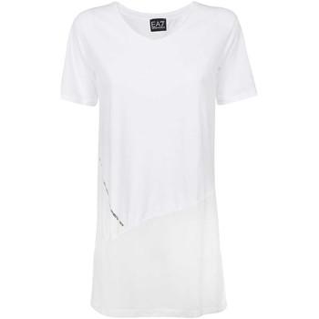 Textil Ženy Trička s krátkým rukávem Ea7 Emporio Armani 3KTT36 TJ4PZ Bílý