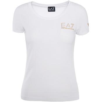 Textil Ženy Trička s krátkým rukávem Ea7 Emporio Armani 8NTT65 TJ28Z Bílý