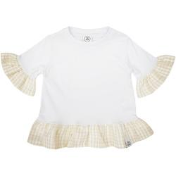 Textil Dívčí Trička s krátkým rukávem Naturino 6001011 01 Bílý
