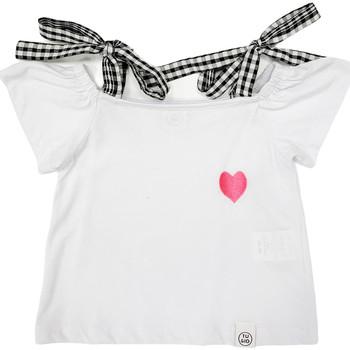 Textil Dívčí Trička s krátkým rukávem Naturino 6001013 01 Bílý