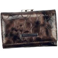 Taška Ženy Náprsní tašky Gregorio šedá malá dámská kožená peněženka v dárkové krabičce Šedá