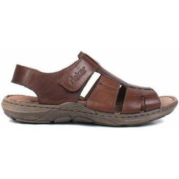 Boty Muži Sandály Rieker Nugátové hnědé sandály Brown