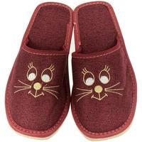 Boty Ženy Papuče John-C Dámske ľanové bordové papuče KITTY bordová
