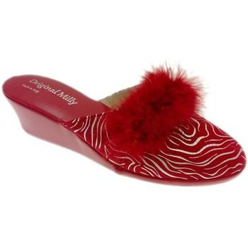Boty Ženy Pantofle Milly MILLY300zebraross rosso