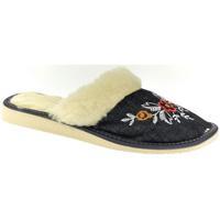 Boty Ženy Papuče John-C Dámske modré papuče ELIE tmavomodrá