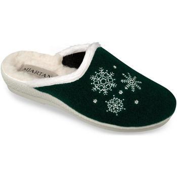 Boty Ženy Papuče Mjartan Dámske zelené papuče  LISA tmavozelená
