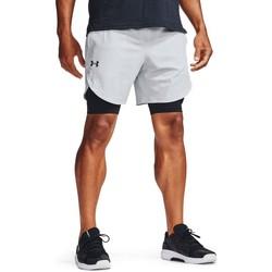 Textil Muži Tříčtvrteční kalhoty Under Armour Stretch Woven Shorts Bílé, Černé