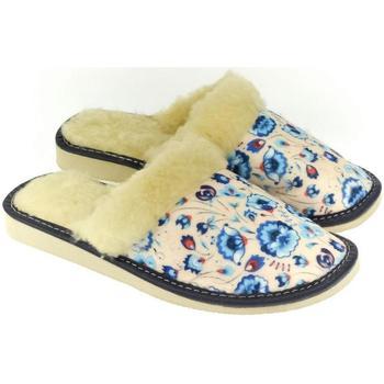 Boty Ženy Papuče John-C Dámske kvietkované papuče ELIZA béžová