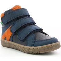 Boty Chlapecké Nízké tenisky Kickers Chaussures enfant  Lohan marine/orange