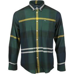 Textil Muži Košile s dlouhymi rukávy Barbour Dunoon Tailored Shirt Zelená