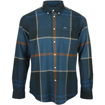 Textil Muži Košile s dlouhymi rukávy Barbour Dunoon Tailored Shirt Modrá