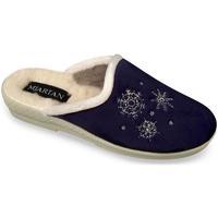 Boty Ženy Papuče Mjartan Dámske tmavomodré papuče  LISA hnedá
