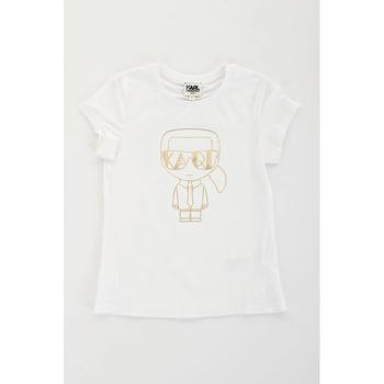 Textil Dívčí Trička s krátkým rukávem Karl Lagerfeld Kids 2007069 Bílá