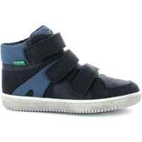 Boty Chlapecké Kotníkové tenisky Kickers Chaussures enfant  Lohan noir/bleu