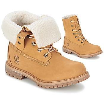 Boty Ženy Kotníkové boty Timberland AUTHENTICS TEDDY FLEECE WP FOLD DOWN Zlatohnědá / Světlá