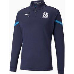 Textil Muži Mikiny Puma Sweat Olympique de Marseille Prematch bleu marine/bleu azur
