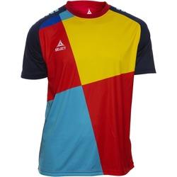 Textil Chlapecké Trička s krátkým rukávem Select T-shirt enfant  Player Pop Art bleu/jaune/rouge