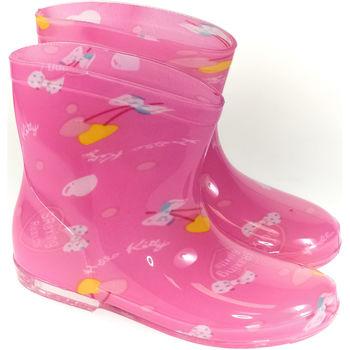 Boty Děti Holínky Elu Detské ružové gumáky ANDES ružová