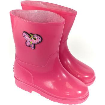 Boty Děti Holínky Elu Detské ružové gumáky SADEEE ružová