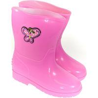 Boty Děti Holínky Elu Detské ružové gumáky SADEE ružová
