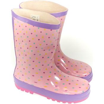 Boty Děti Holínky Elu Detské ružové gumáky PINKS ružová
