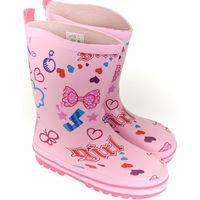 Boty Děti Holínky Elu Detské ružové gumáky ROSSE ružová