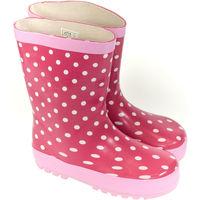 Boty Děti Holínky Elu Detské ružové gumáky DOTS ružová