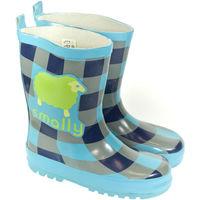 Boty Děti Holínky Elu Detské modré gumáky BABLE modrá