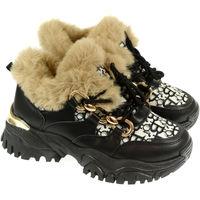 Boty Ženy Šněrovací polobotky  & Šněrovací společenská obuv Bella Paris Dámske čierne poltopánky PRINCETA PARIS čierna