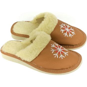 Boty Ženy Papuče John-C Dámske hnedé papuče LINA ťavia