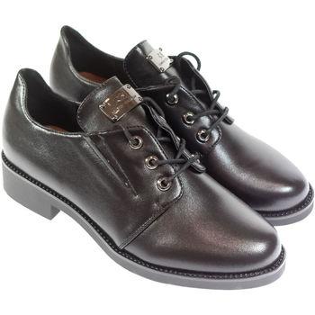 Boty Ženy Šněrovací polobotky  & Šněrovací společenská obuv Mmo Dámske čierne poltopánky BALE čierna