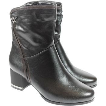 Boty Ženy Polokozačky Mmo Dámske čierne čižmy AKELA čierna