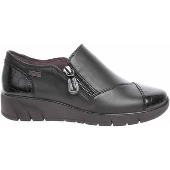 Boty Ženy Mokasíny Jana Dámská obuv  8-24600-27 black snake Černá