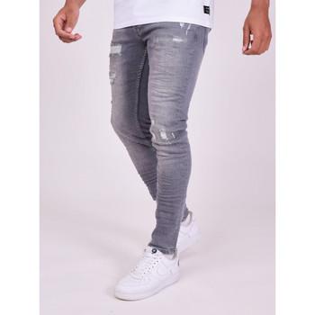 Textil Muži Kalhoty Project X Paris Pantalon Jeans Slim effet usé gris foncé