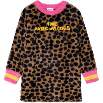 Textil Dívčí Kabáty Marc Jacobs W12388 Hnědá