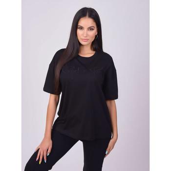Textil Ženy Trička s krátkým rukávem Project X Paris T-shirt femme basic noir
