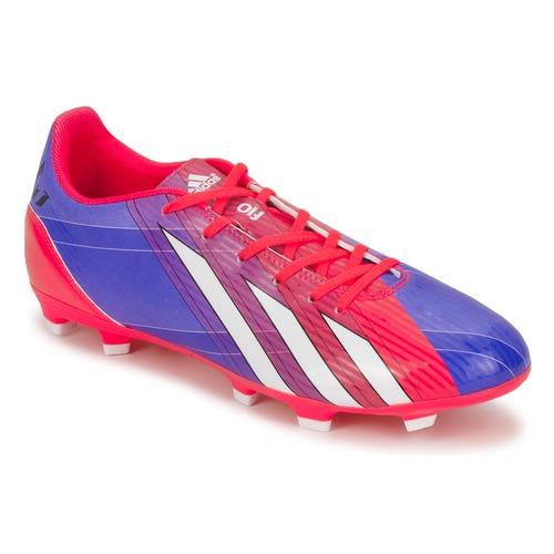 Boty Muži Fotbal adidas Performance F10 TRX FG Modrá / Bílá / Červená