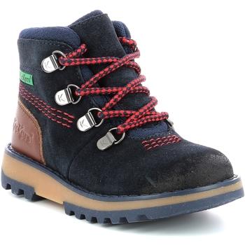 Boty Chlapecké Kotníkové boty Kickers Chaussures enfant  Kicknature marine/rouge