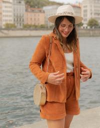 Textil Ženy Saka / Blejzry Céleste SASSAFRAS Velbloudí hnědá