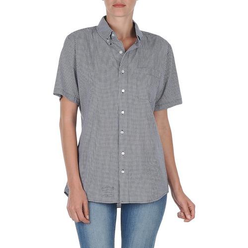 Textil Ženy Košile s krátkými rukávy American Apparel RSACP401S Bílá / Modrá
